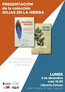 Presentación de <em>Hojas en la hierba</em> en Logroño @ Librería Cerezo
