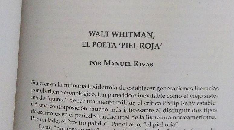 El poeta piel roja, prólogo de Manuel Rivas
