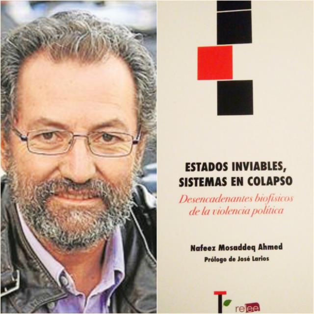 Pepe Larios y portada de Estados Inviables